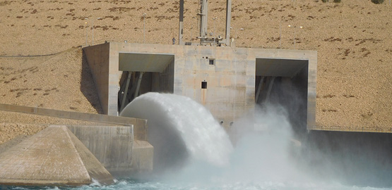 Work in progress in Mosul Dam Trevi spa