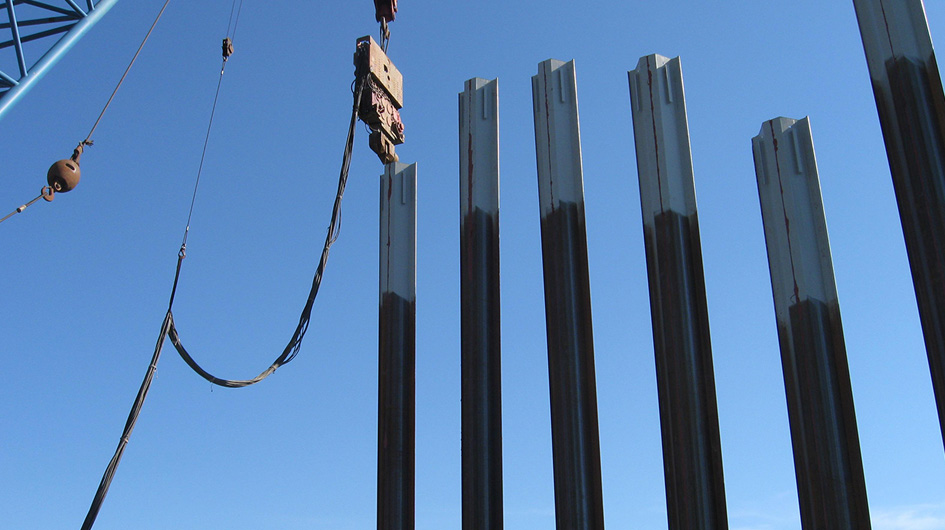 Sheet pile and Combi Walls | Technologies | Trevi 3