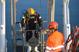 Diving operations and inspection Trevi spa
