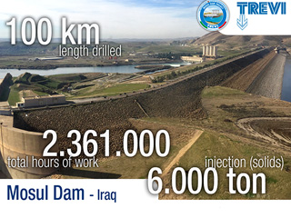 1 Year of Mosul Dam Trevi spa