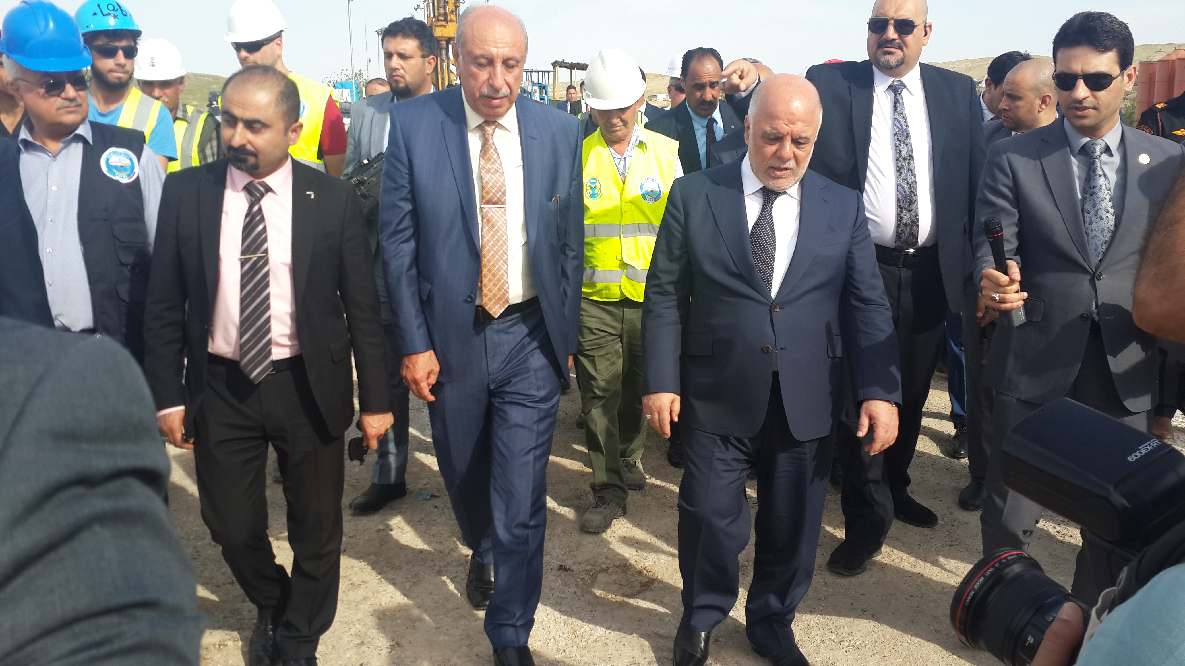 Visit of Al-Abadi the Iraqi Prime Minister Trevi spa