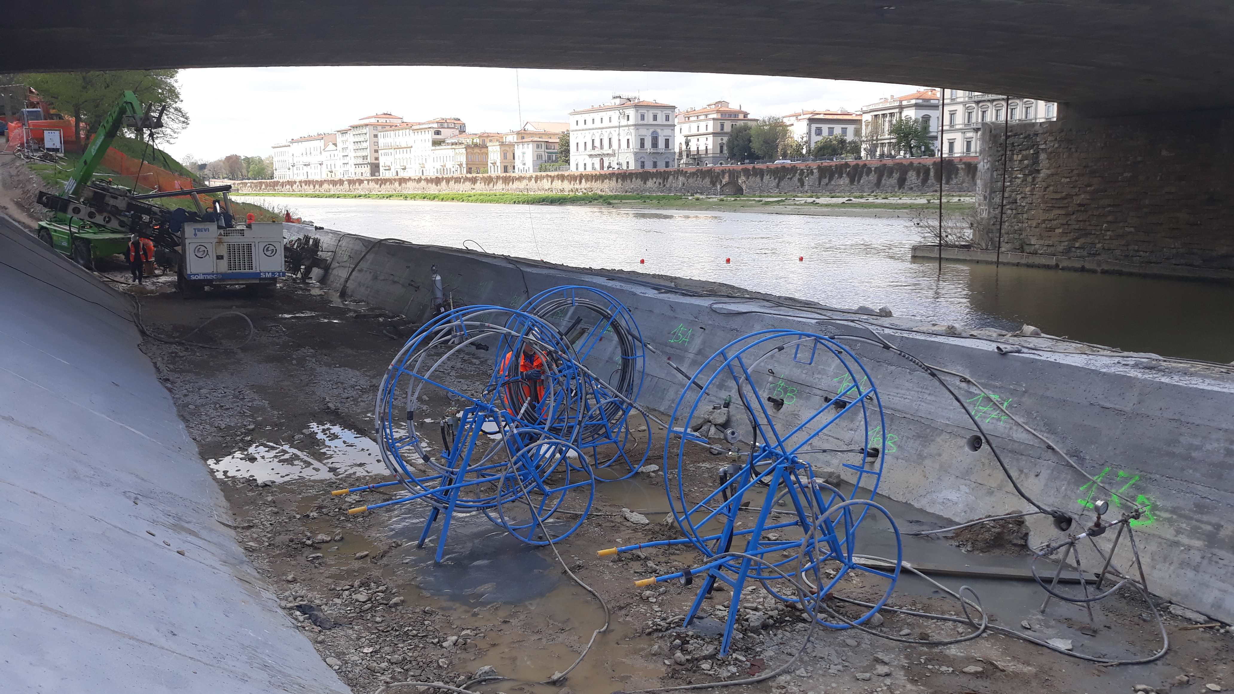 Trevi know-how and technology for the safety of the Vespucci Bridge in Florence | Trevi Spa 4
