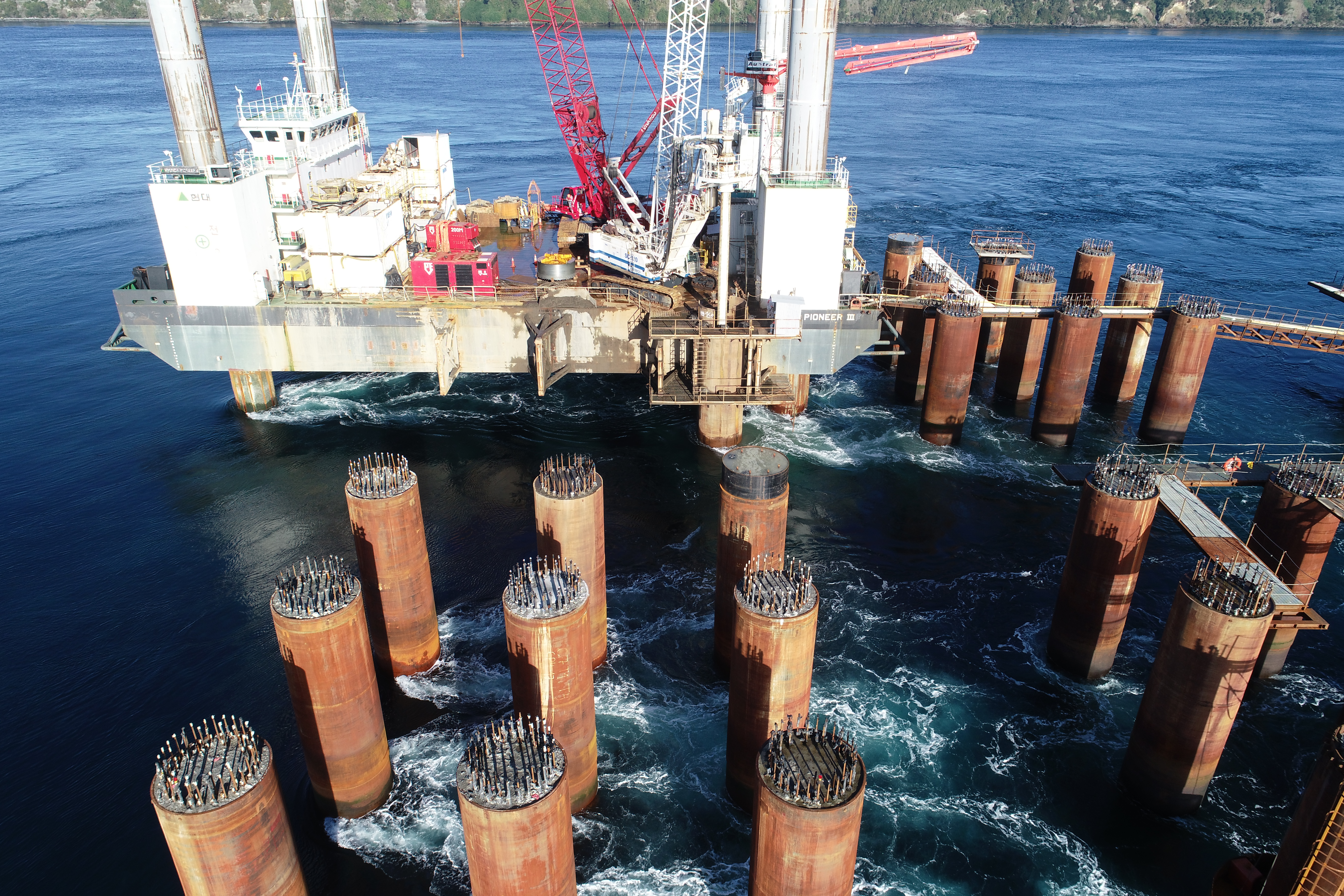 The works carried out for the Central Pylon of the Chacao Bridge by Trevi Chile Spa | Trevi 2